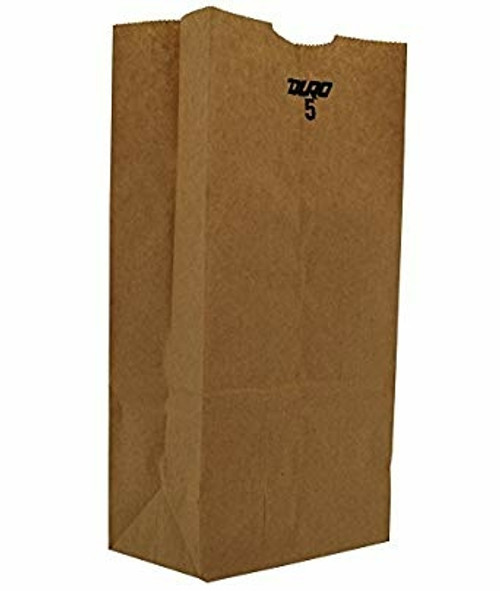 5lb Kraft Paper Grocery Bag 100% Recycled (500/pk)