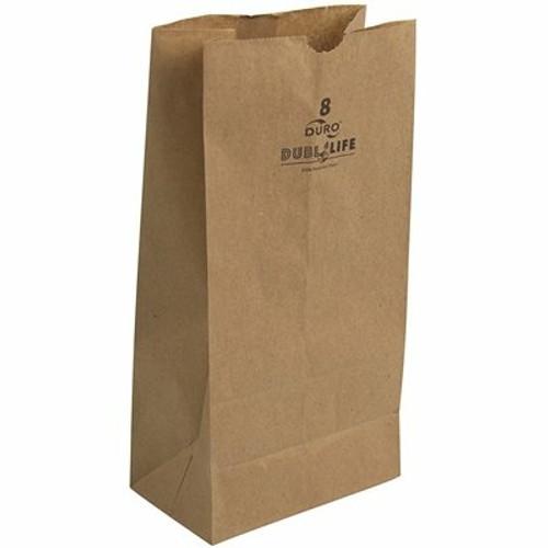 8lb Kraft Paper Grocery Bag 100% Recycled (500/pk)