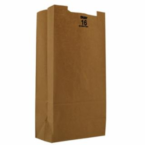 16lb Kraft Paper Grocery Bag 100% Recycled (500/pk)