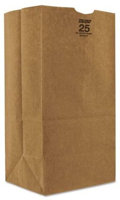 25lb Kraft Paper Grocery Bag 100% Recycled (500/pk)