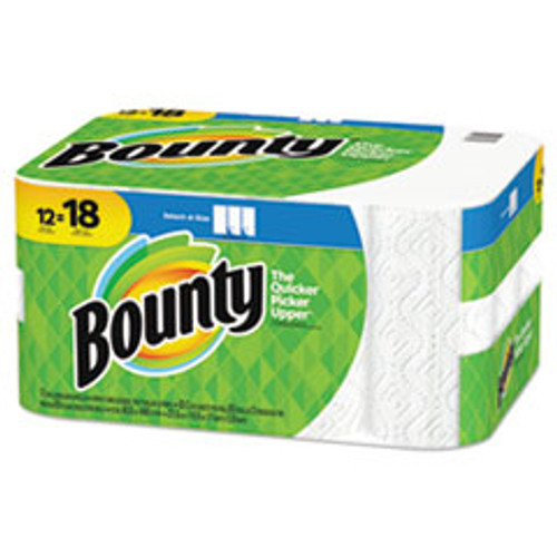 Bounty Select-A-Size Paper Towel, 2-Ply, White, 83 Sheets/Roll, 12 Rolls/Pack