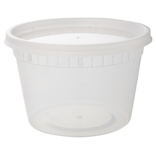 Combo 16oz Heavy Deli Container w/Lid (240/cs)