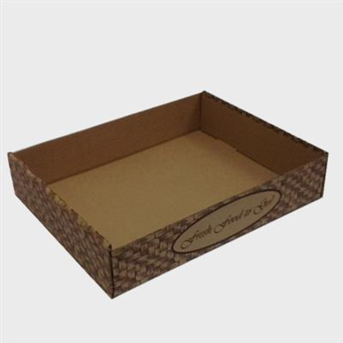 Small/Half Pan B-Flute Catering Box - Basket Weave (50/BDL)