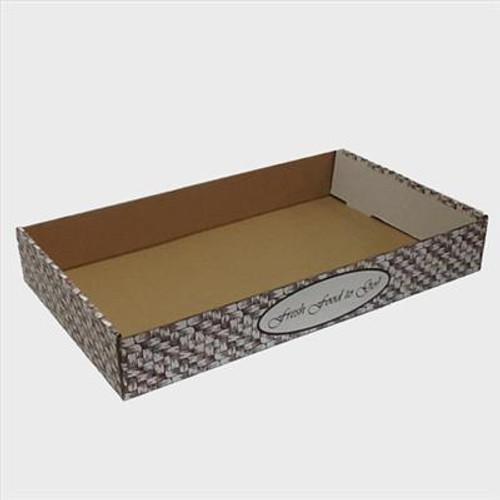 Large/Full Pan B-Flute Catering Box - Basket Weave (50/BDL)