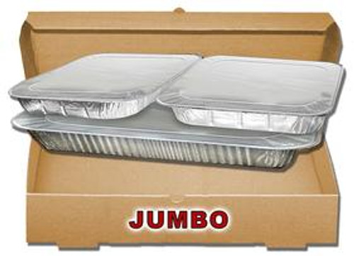 Jumbo/2 Full Pan B-Flute Catering Box - KRAFT (25/BDL)