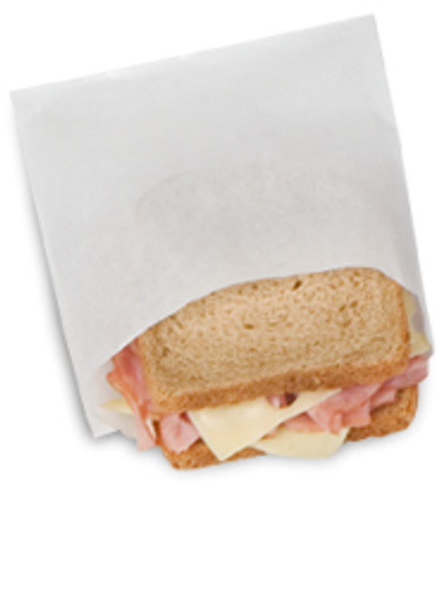 Sandwich Bag 6 x 5/8 x 7 Plain Wet Wax Translucent (6m/cs)