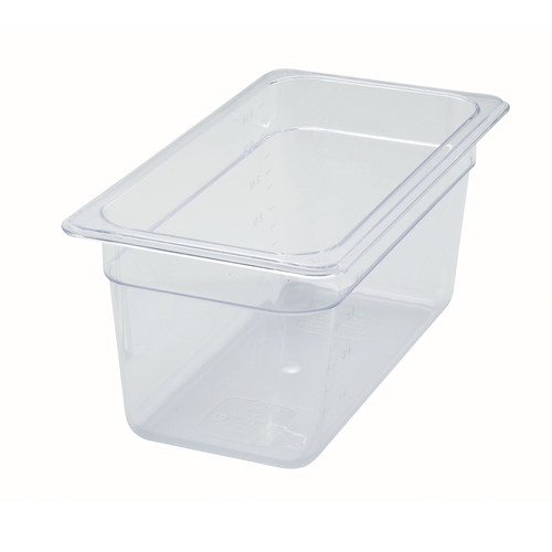 "Poly-Ware™ Food Pan, 1/3 size, 12-5/8"" x 6-7/8"", 5-1/2"" deep, -40°F to 210°F temp. range, dishwasher safe, break-resistant polycarbonate, NSF (Qty 1 each)"