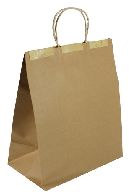 "Seal-2-Go® 10x7x12 Heavy ""T.E.D.S."" Brown Kraft Bag (250/CS)"
