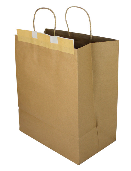 "Seal-2-Go® 12x8.7x15.75 Heavy ""T.E.D.S."" Brown Kraft Bag (100/CS)"