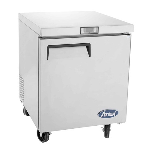 "Atosa Undercounter Freezer, reach-in, one-section, 27-1/2""W x 30""D x 34-1/8""H, rear-mounted self-contained refrigeration, 7.15 cu. ft., digital temperature control, -8° to 0°F temperature range"