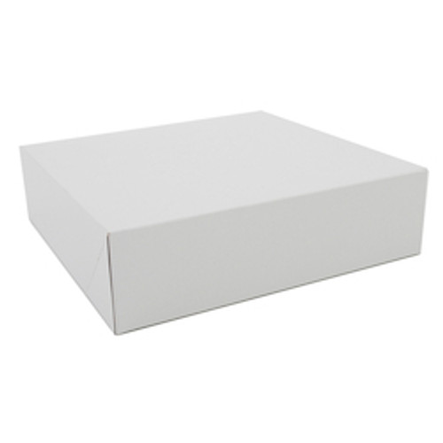 "15"" x 12"" x 2 1/4"" White Auto-Popup Donut / Bakery Box (100/bdl)"