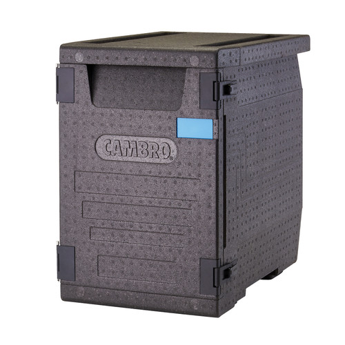 """Cam GoBox® Insulated Food Pan Carrier, 90.9 qt., front load, holds (4) GN 1/1 or (8) GN 1/2 sized food pans up to 4"""" deep"""