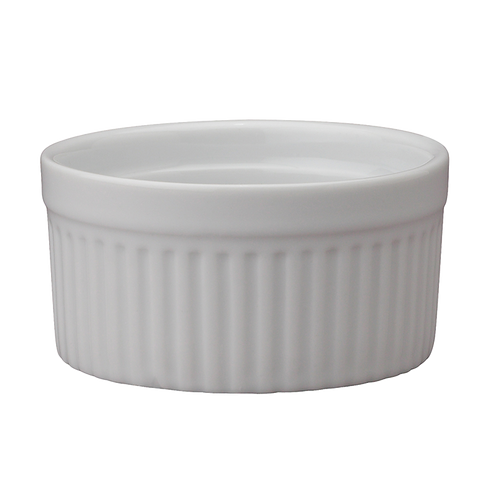 "Soufflé, 6 oz., 3-1/2"", oven-to-table fine porcelain, safe for oven, broiler, microwave, freezer & dishwasher (6/bx)"
