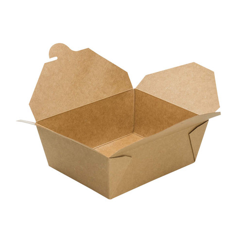 #8/48oz Kraft Fold-to-Go Box  (300/cs)
