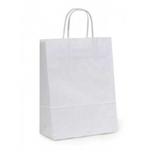 10x7x12 White Handled Shopping Bag (250/BX)