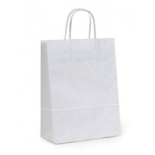 10x7x12 White Handled Shopping Bag (250/BX)