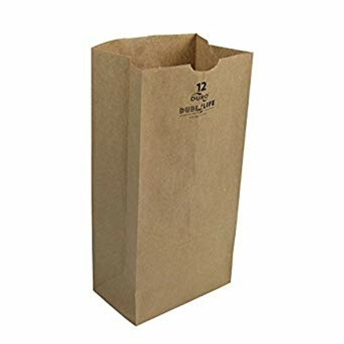 12lb Kraft Paper Grocery Bag 100% Recycled (500/pk)