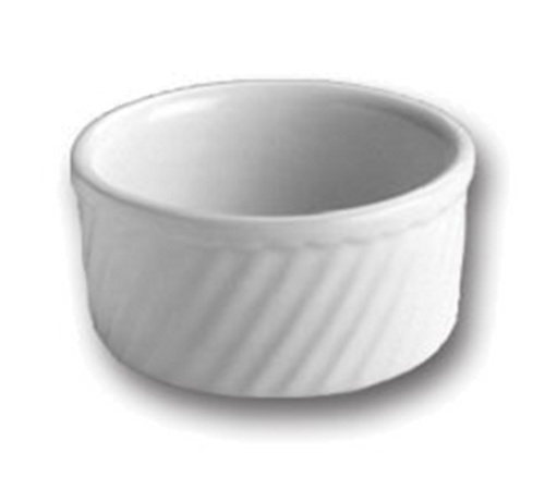 "Soufflé, 8 oz., 4"" dia., round, without handle, Hall China, White, Made in USA  (2dz/cs)"
