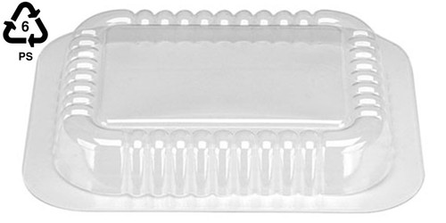 1 lb Clear Plastic Oblong Dome Lid Only (1,000/cs)
