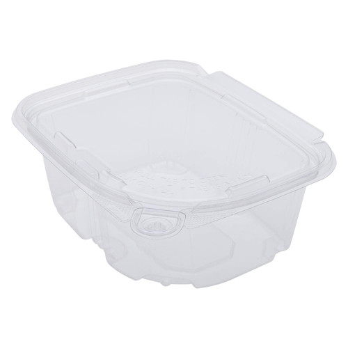 Karat 16oz PET Tamper Resistant Hinged Deli Container with Lid (200/cs)