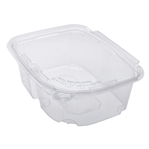 Karat 32oz PET Tamper Resistant Hinged Deli Container with Lid (200/cs)
