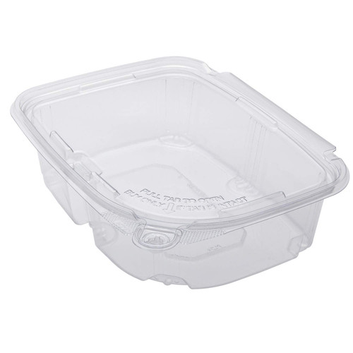 Karat 24oz PET Tamper Resistant Hinged Deli Container with Lid (200/cs)