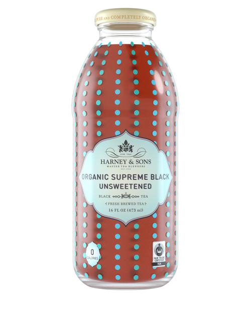 Harney & Sons Organic Supreme Black Unsweetened Iced Tea (12/16oz)