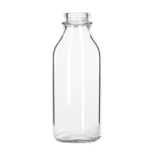 Milk Bottle, 33-1/2 oz. (991 ml), nostalgic milk bottle shape, BPA free, square design (24/case)