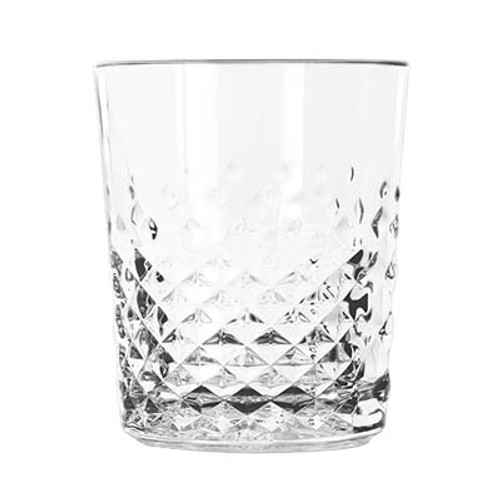 Old Fashioned Rocks Glass, 12 oz., double, Carats, glass, clear  (12/cs)