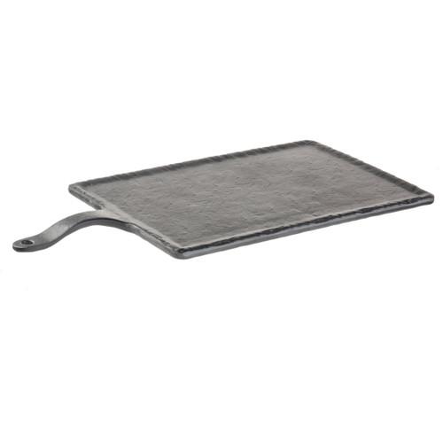 "Serving Paddle, 13"" x 8-3/4"" platter with 4-3/4"" handle, melamine, black slate"