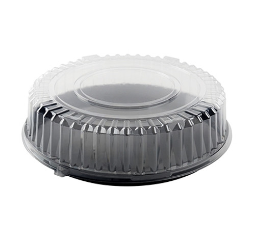 """Fineline Platter Pleasers 16"""" CLEAR PETE Dome Lid w/Stack Ring (50/cs)"""
