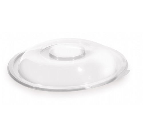 """12""""/160oz Round Super Bowl Clear Dome Lid PolyPro (25/cs)"""