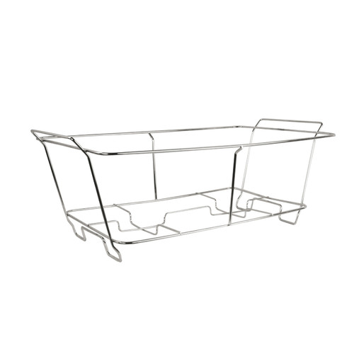 """Chafer Stand, full size, fits (1) 2"""" deep stainless steel or aluminum foil tray (10 each)"""
