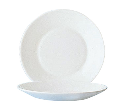 """Arcoroc, Opal®, Side Plate, 7-1/2"""" dia., round, wide rim, fully tempered, microwave safe, glass, Restaurant White (24/cs)"""