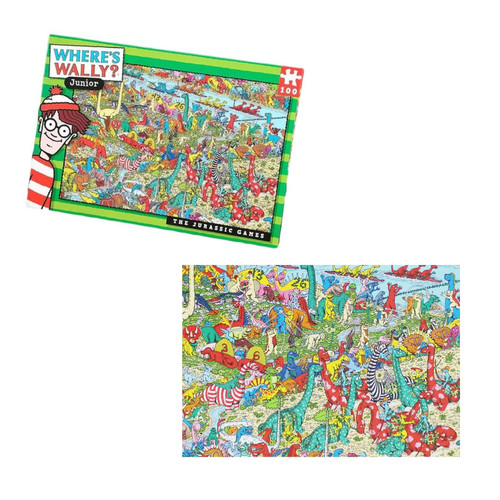 "Where's Wally Junior ""The Jurassic Games"" Jigsaw Puzzle"