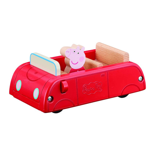 Peppa Pig Wooden Red Car with Peppa Figure