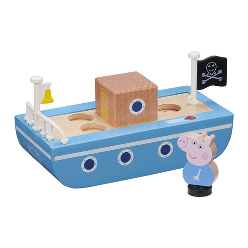 Peppa Pig Wooden Boat with George Figure