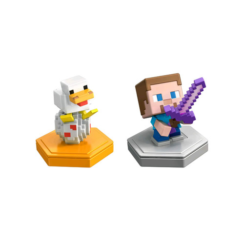 Minecraft Earth Steve and Duck 2 Pack Figures