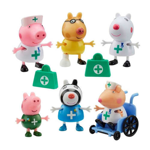 Peppa Pig Doctors & Nurses 6 Figure Pack with Accessories