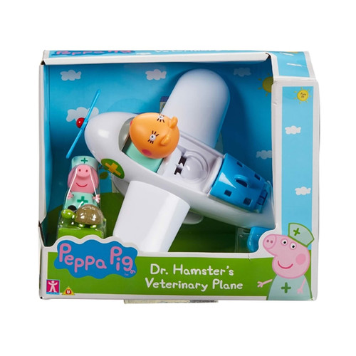 Dr Hamsters Veterinary Plane with Peppa Figure & Tortoise