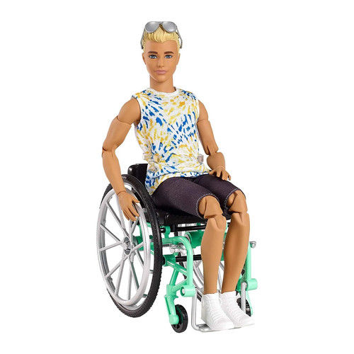 Barbie Ken Fashionistas Doll with Wheelchair & Ramp