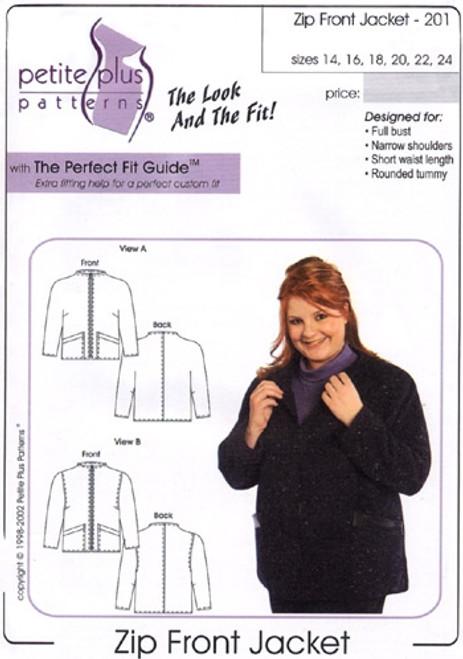 Zip Front Jacket - Petite Plus