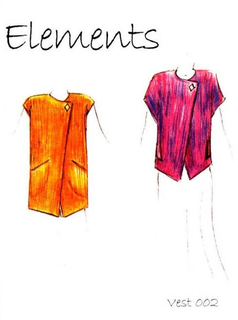 Vest 002 Pattern - Elements