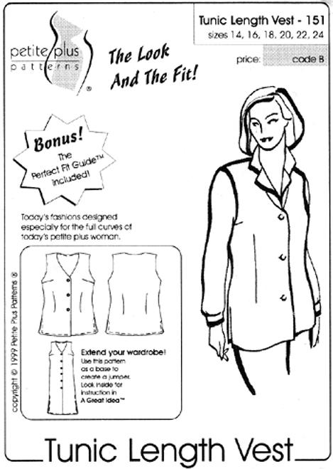 Tunic Length Vest - Petite Plus