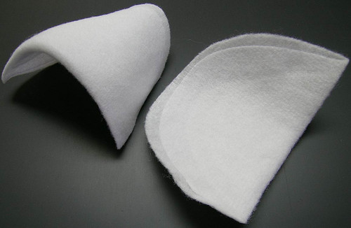 Rounded - Shoulder Pads - Uncovered - Small