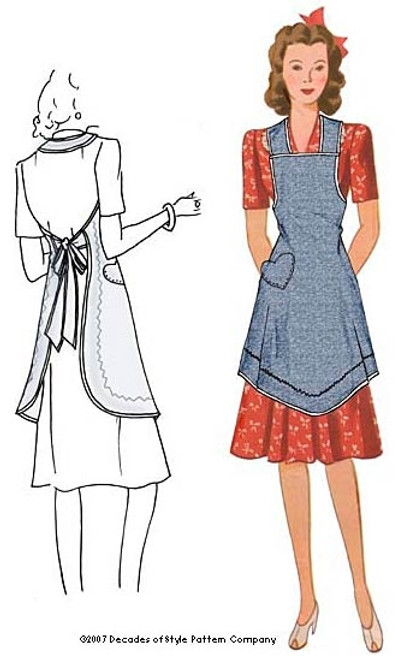 1940's Apron from Val's Kitchen - Decades of Style