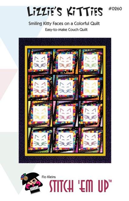 Lizzies Kitties Wall Quilt  Pattern