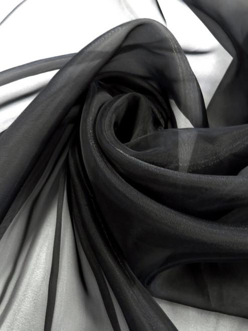 Sheer Organza - Black