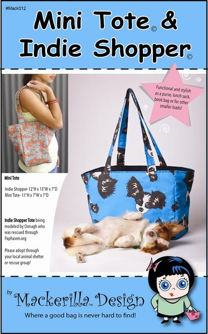 Mini Tote and Indie Shopper Handbag Pattern - Mackerilla Design