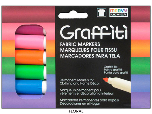 Uchida Fabric Marker Graffiti Set